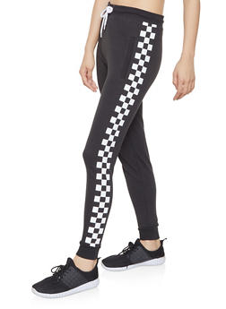 Checkered Side Joggers - 1061033879199