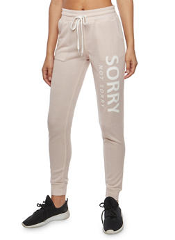 Sorry Graphic Sweatpants - 1061051063596