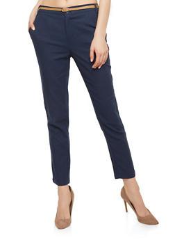 Belted Linen Pants - 1061051063633
