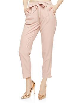 Tie Front Dress Pants - 1061051063686
