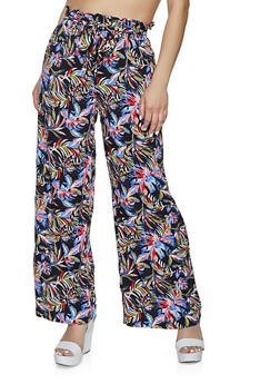 Printed Wide Leg Pants - 1061051065860