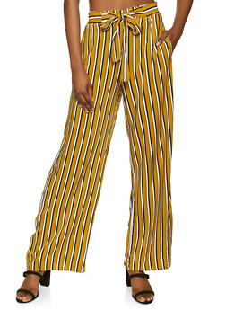 Striped Wide Leg Pants - 1061054261214