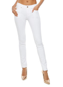 Stretch Knit Push Up Pants - WHITE - 1061054262149