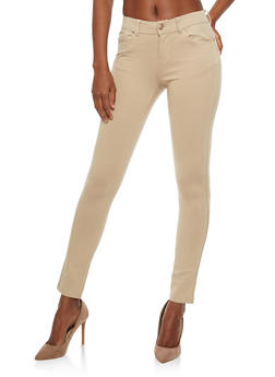 Stretch Knit Push Up Pants - KHAKI - 1061054262149