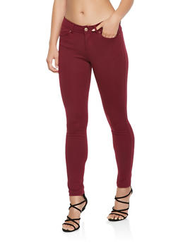 Stretch Knit Push Up Pants - 1061054262149