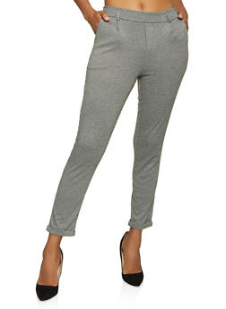 Houndstooth Pull On Dress Pants - 1061054267052