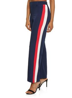Crepe Knit Side Stripe Trim Pants - 1061054267845