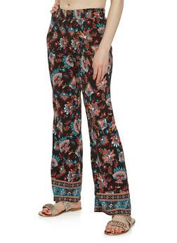 Printed Flared Pants - 1061061353698