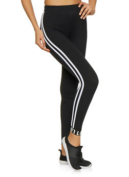 Varsity Stripe Love Leggings - 1061061632690