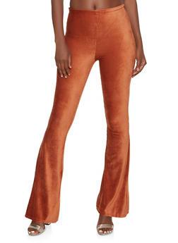 Corduroy Flared Pants - MOCHA - 1061062124556