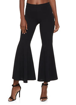 Crepe Knit Pull On Flared Pants - 1061062129030