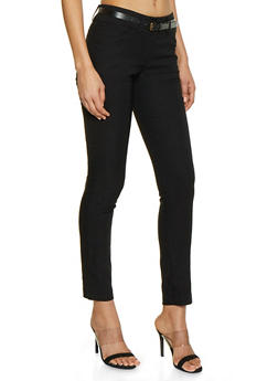 2 Button Belted Stretch Dress Pants - 1061062700007