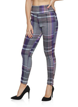 Plaid Pull On Pants - 1061062701749
