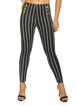 Vertical Stripe Sailor Pants - 1061062707170
