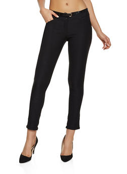 Fixed Cuff Skinny Dress Pants - 1061062707236