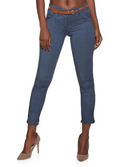 Fixed Cuff Skinny Dress Pants - 1061062707236