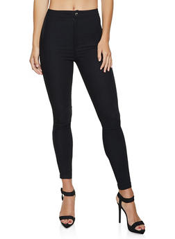 High Waisted Stretch Pants - 1061062707264