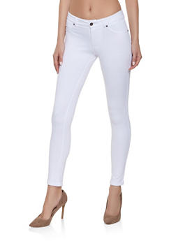 Solid Ponte Knit Jeggings - 1061062707351
