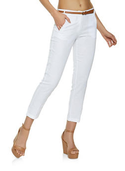 Linen Belted Pants - 1061062707591
