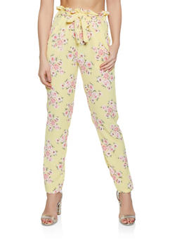 Flower Print Crepe Knit Pants - 1061074010022