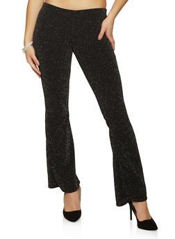 Lurex Knit Flared Pants - 1061074010538