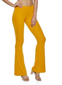 Ribbed Flare Pants - 1061074010558
