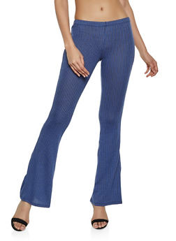 Ribbed Flare Pants - 1061074010558