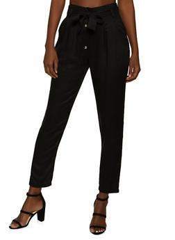 Tie Waist 4 Button Pants - 1061074010561