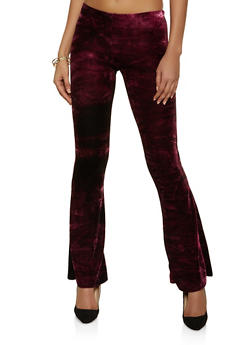 Flared Crushed Velvet Pants - 1061074010567