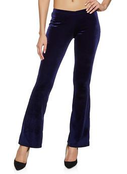 Flared Velvet Pants - 1061074010568