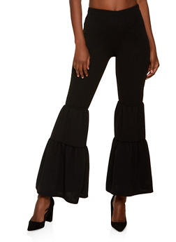 Crepe Knit Flared Dress Pants - 1061074010615