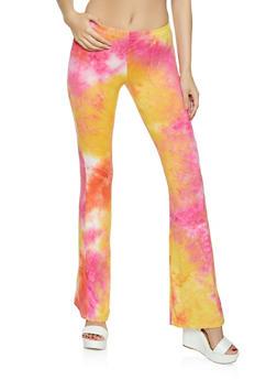 Tie Dye Flared Pull On Pants - 1061074010633