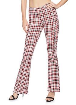 Soft Knit Printed Flared Pants - 1061074012295