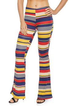 Striped Flared Pants - 1061074012925