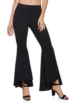 Flared Pintuck Dress Pants - 1061074015531