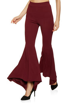 Pintuck Bell Bottom Pants - 1061074015794