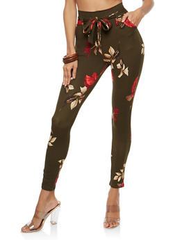 Tie Front Soft Knit Pants - 1061074015818