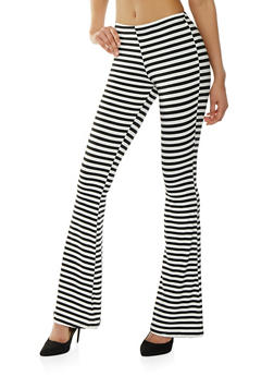 Striped Soft Knit Flared Pants - 1061074015863