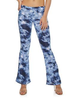 Tie Dye Flared Pants - 1061074015872