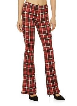Plaid Flared Pants - 1061074015883