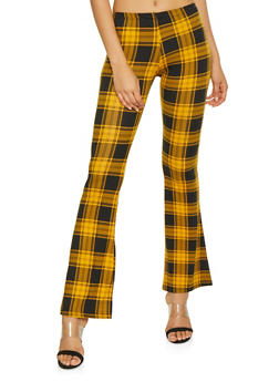 Plaid Flared Pants - 1061074015883