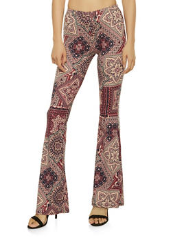 Printed Flared Pants - 1061074015894