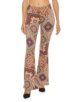 Printed Flared Pants - 1061074015894