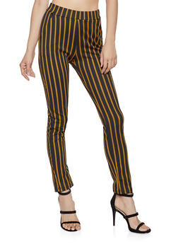 Striped Crepe Knit Dress Pants - 1061074015896