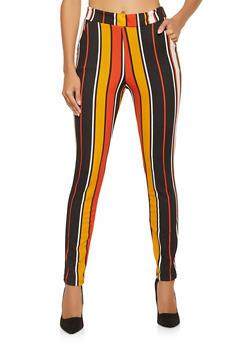 Striped Crepe Knit Dress Pants - 1061074015896