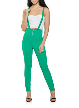 High Waisted Suspender Pants - 1061074015915