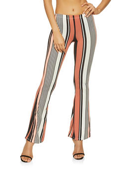 Striped Flared Pants - 1061074015922