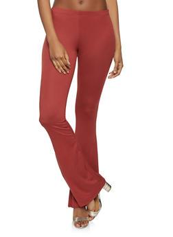 Flared Soft Knit Pants - 1061074015926