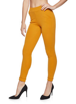 Solid Crepe Knit Dress Pants - 1061074015939