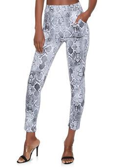 Snake Print Pull On Pants - 1061074015950